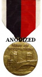 Army of Occupation Medal - Large Anodized