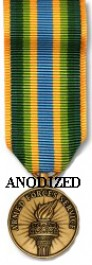 Armed Forces Service Medal - Mini Anodized