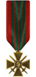 French Croix De Guerre - WWII Medal - Mini