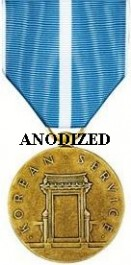 Korean Service Medal - Large Anodized