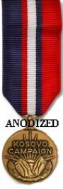 Kosovo Campaign Medal - Mini Anodized