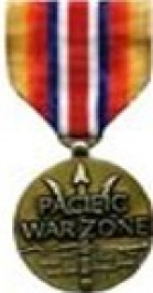 Merchant Marine Pacific War Zone Medal Medal - Large for Merchant Marine Service