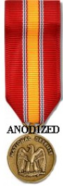 National Defense Medal - Mini Anodized