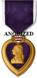 Purple Heart Medal - Large Anodized