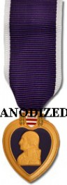 Purple Heart Medal - Mini Anodized