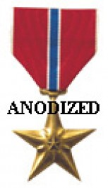 Bronze Star Medal - Large Anodized