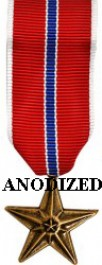 Bronze Star Medal - Mini Anodized