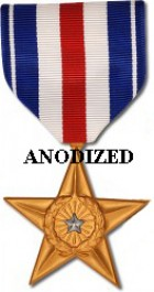 Silver Star Medal - Large Anodized