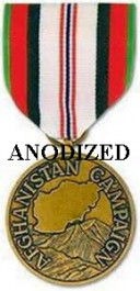 Afghanistan Campaign Medal - Large Anodized