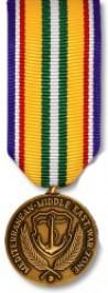 Med-Mid East War Zone Medal - Mini
