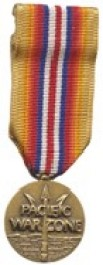 Merchant Marine Pacific War Zone Medal Medal - Mini for Merchant Marine Service