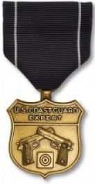 Coast Guard Pistol Expert Medal - Large