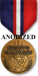 Kosovo Campaign Medal - Large Anodized
