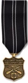 Coast Guard Rifle Expert Medal - Mini